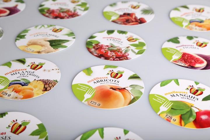 Nassleimetiketten Lebensmitteletiketten