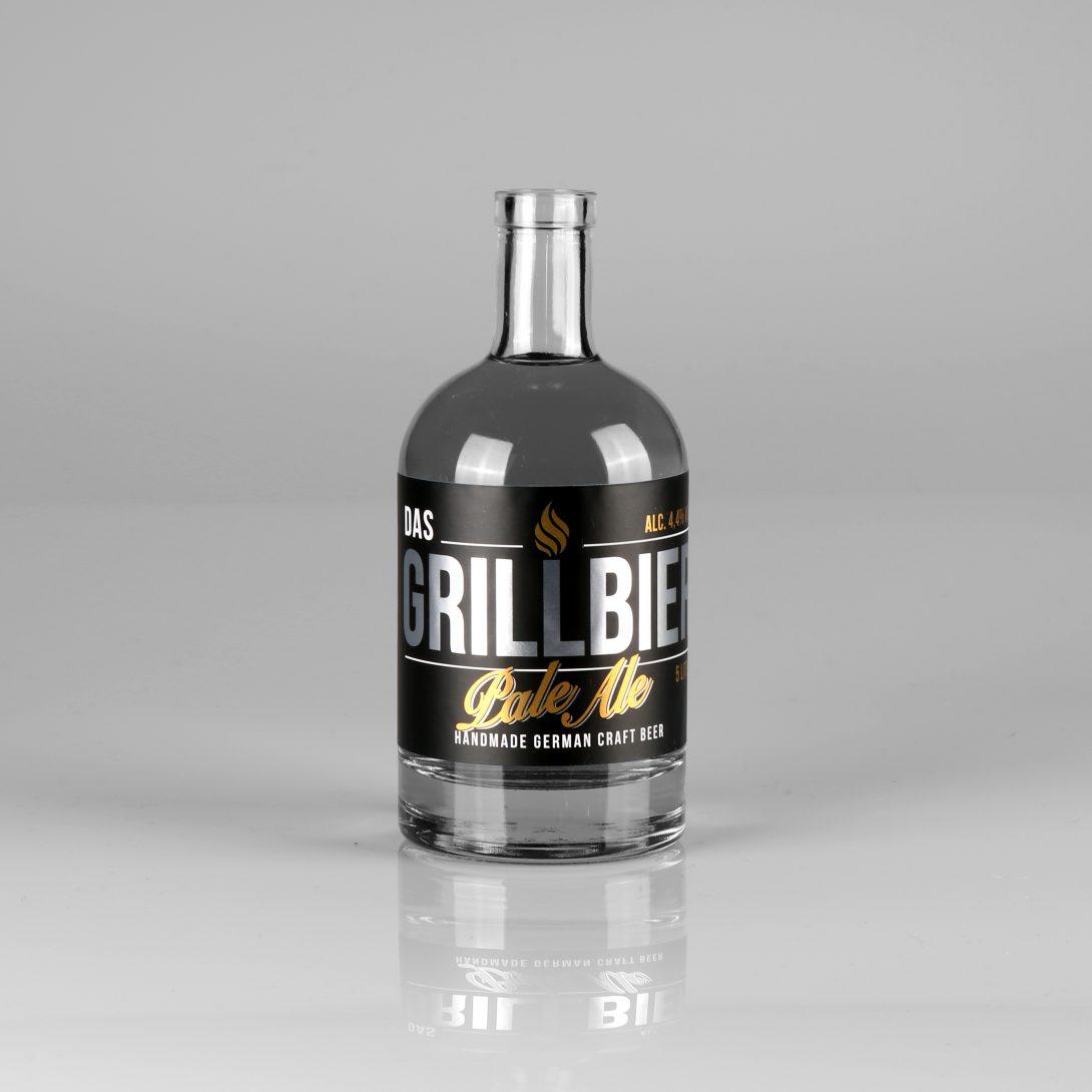 Grillbier Alufolie Flaschenetikett selbstklebend