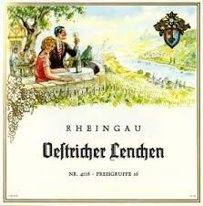 Historisches Weinetikett Rheingau