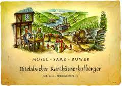 Historisches Weinetikett Eitelsbacher