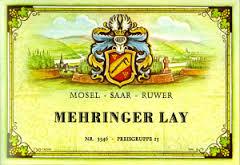 Histrorisches Weinetikett Mehringer Lay