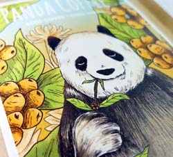 Panda Coffee Papieretikett