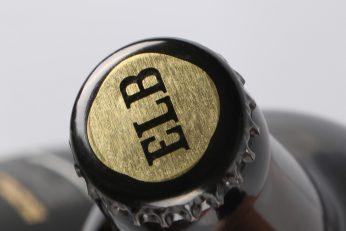 Elb Premium Dark Ale Kronkorken Etikett gold