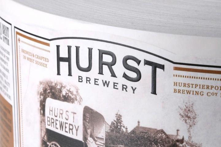 Hurst Brewery Rollenetikett
