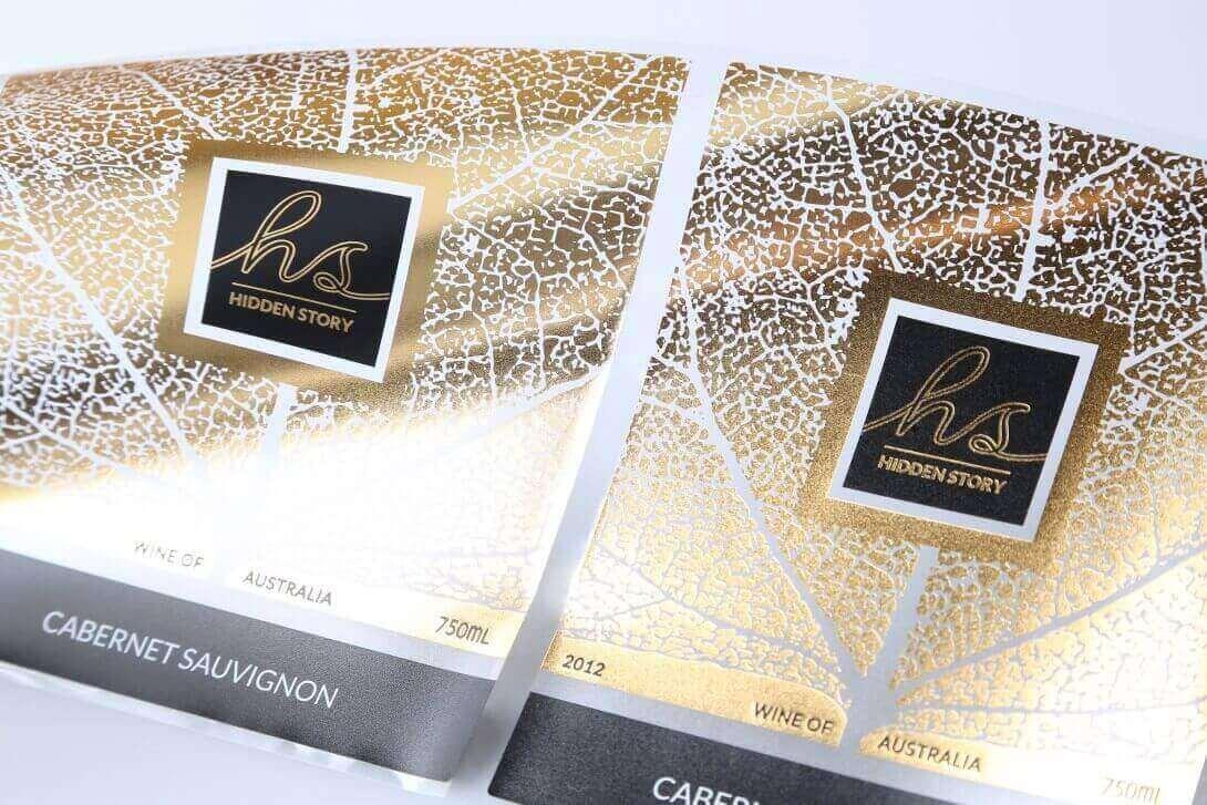 Cabernet Sauvignon Weinetiketten drucken gold edel Goldfolie Haftetiketten