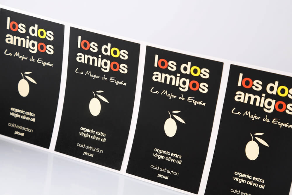 Rollenetikett Los Dos Amigos schwarz