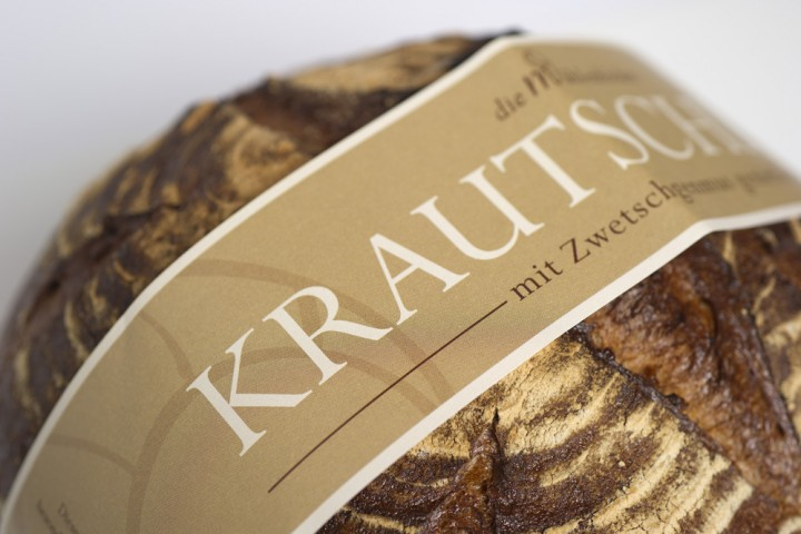 Brotbanderole hellbraun Brot Etikett