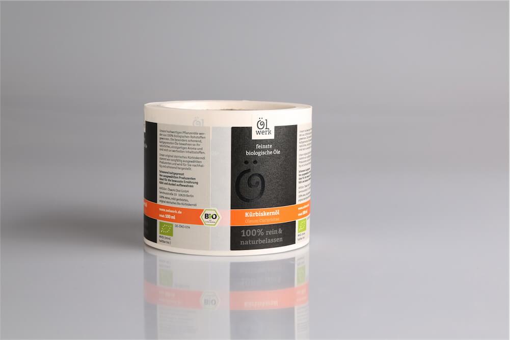 Food Label Lebensmitteletikett Öl