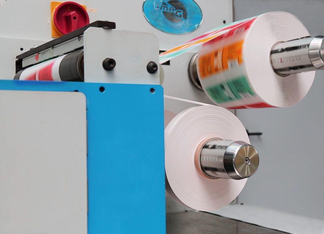 Produktion Probedruck Etikettenrolle Smag