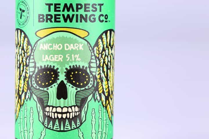 Tempest Brewing Flaschenetikett Papierstruktur